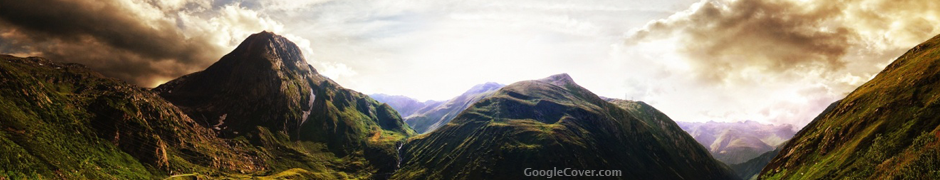 Cloudy Mountains Google Cover