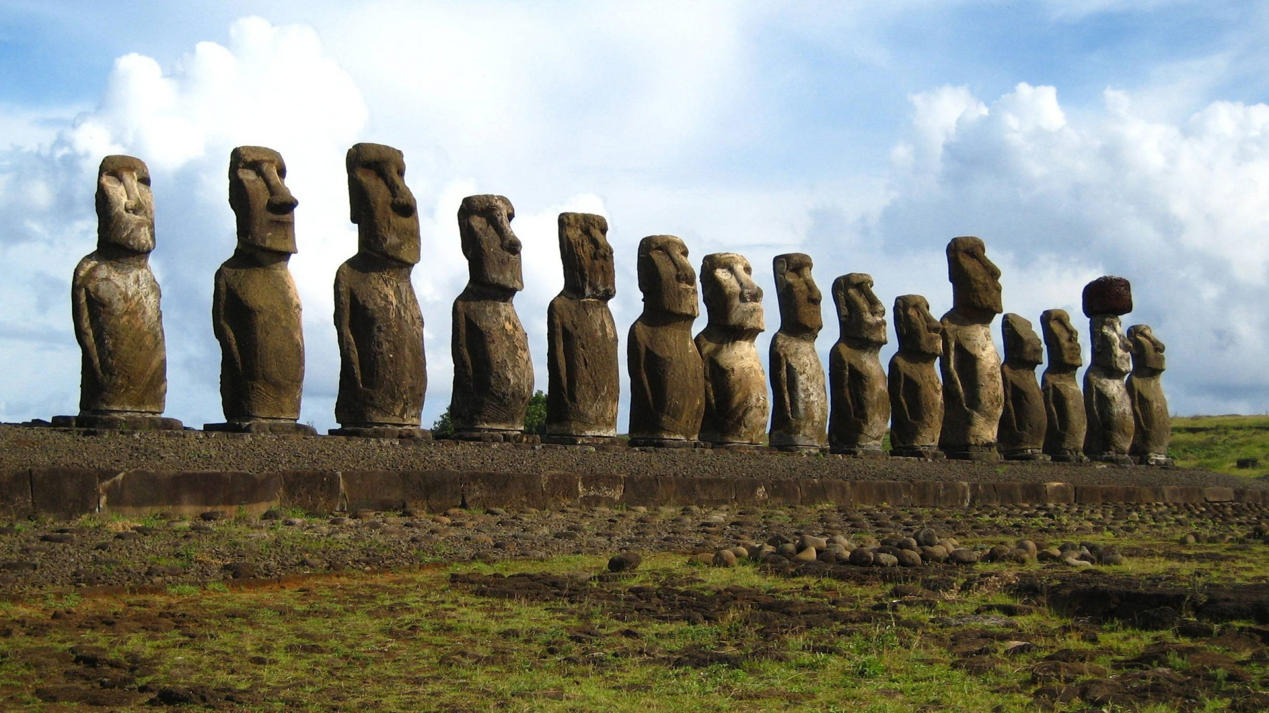 Easter Island Statues Google Cover