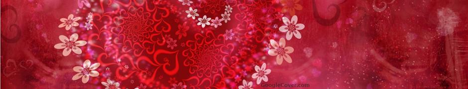 Heart Flowers Google Cover