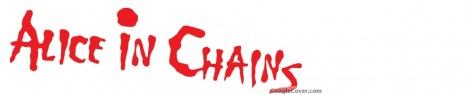 Alice in Chains red logo Google Cover