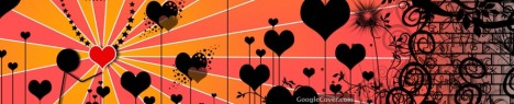 Amazing Heart Abstract Google Cover