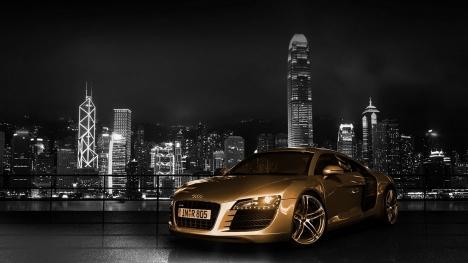 Audi R8 Golden Google Cover