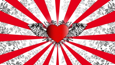 Awesome Heart design Google Cover