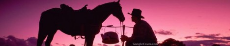 Cowboy Silhouette Google Cover