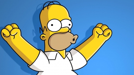 Happy Homer Simpson Google Cover