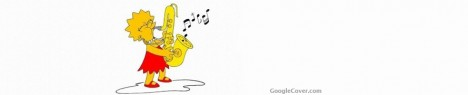 Lisa Simpson playing saxophone Google Cover