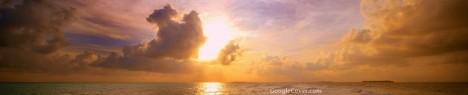 Maldives Sunset Google Cover