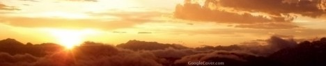 Sun above Clouds Google Cover