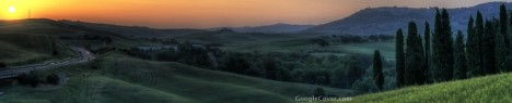 Sunset in Tuscany Google Cover