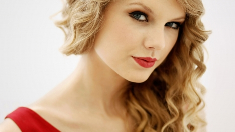 Taylor Swift Red Dress Google Cover